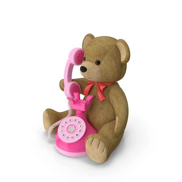 Teddy Bear with Toy Phone PNG & PSD Images