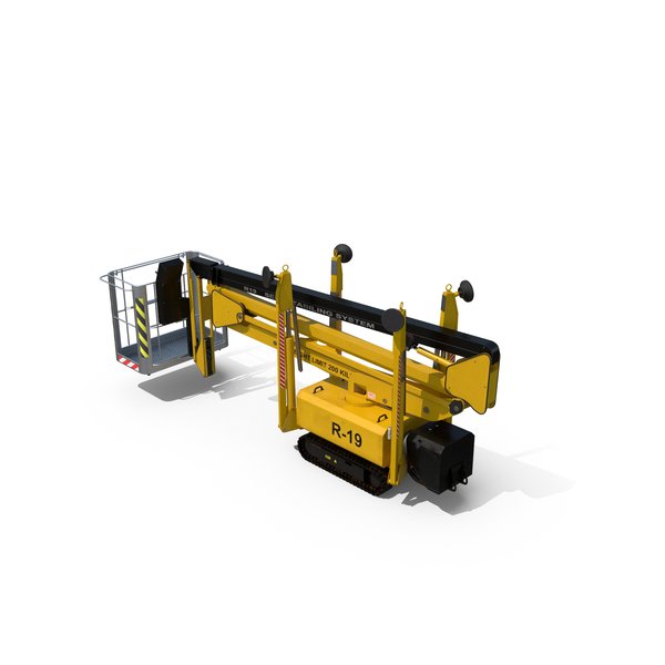 Industrial Crane: Telescopic Boom Lift PNG & PSD Images