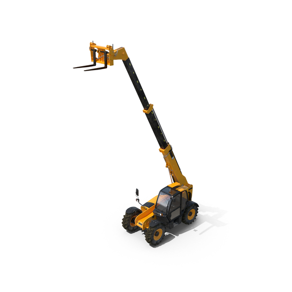 Telescopic Handler Forklift PNG & PSD Images