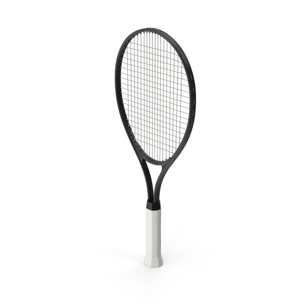Tennis Racket Black PNG & PSD Images