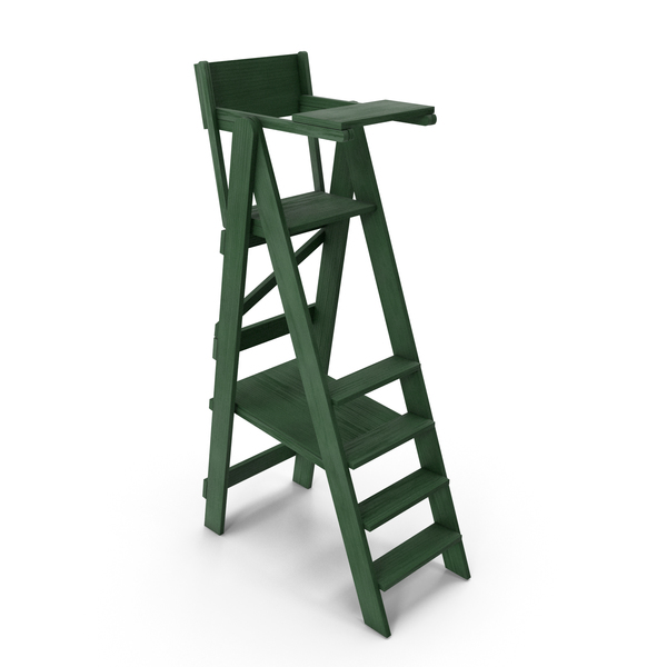 Tennis Umpire Chair Green and White Classic Style PNG & PSD Images