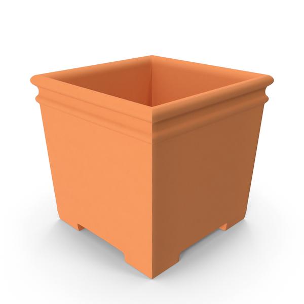 Terra Cotta Planter Cube PNG & PSD Images