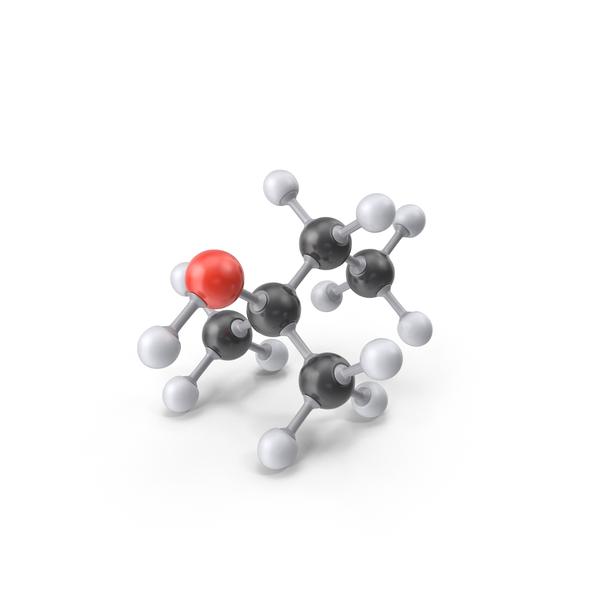 Tert Amyl Alcohol Molecule PNG & PSD Images