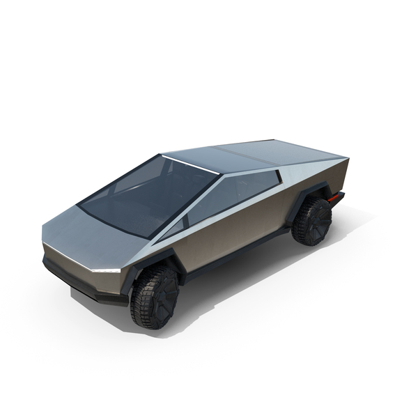 Pick Up Truck: Tesla Cybertruck Elon Musk 2021 PNG & PSD Images