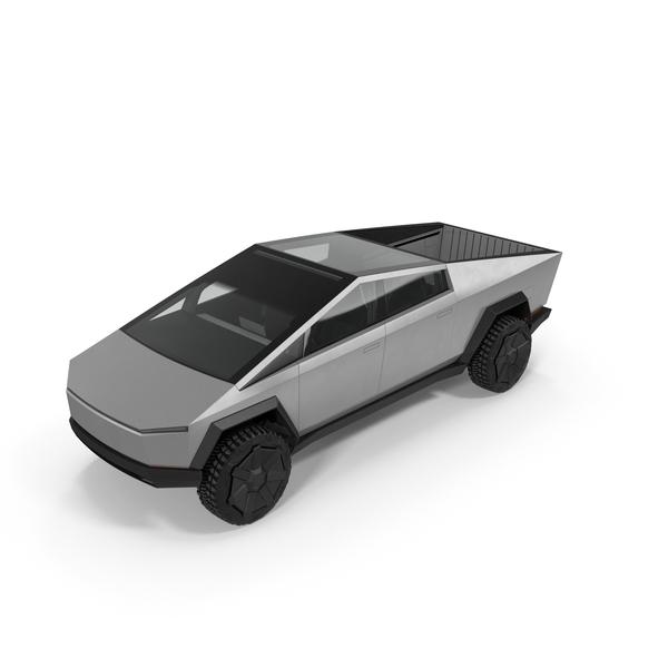 Pick Up Truck: Tesla Cybertruck PNG & PSD Images