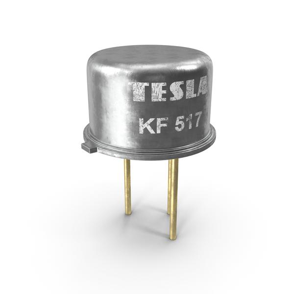 Tesla KF517 PNP Silicon Planar Transistor PNG & PSD Images
