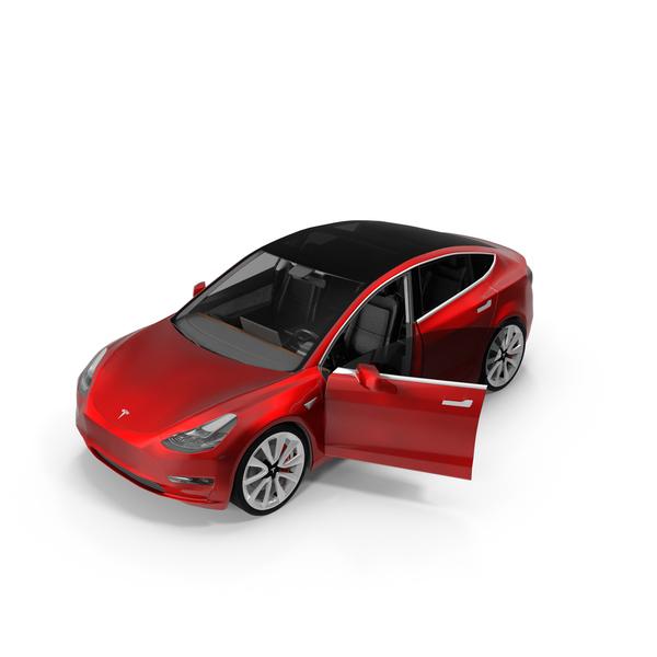 Car: Tesla Model 3 Opened Door PNG & PSD Images