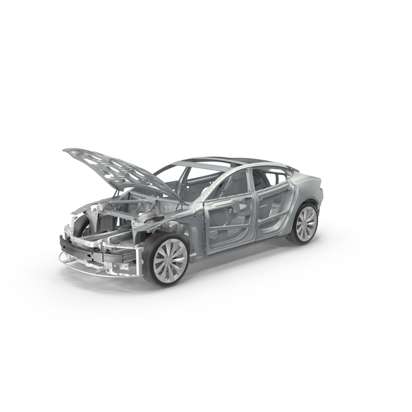 Tesla Model S Frame and Chassis PNG & PSD Images