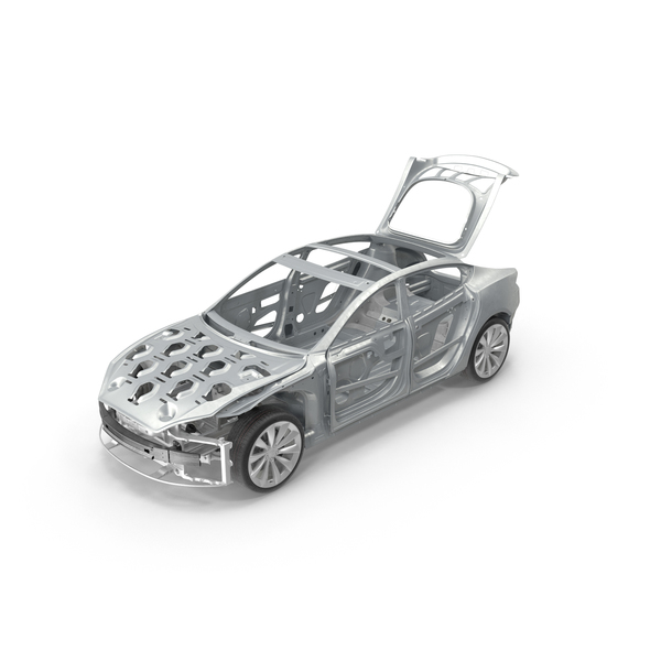Tesla Model S Frame and Chassis Trunk Open PNG & PSD Images