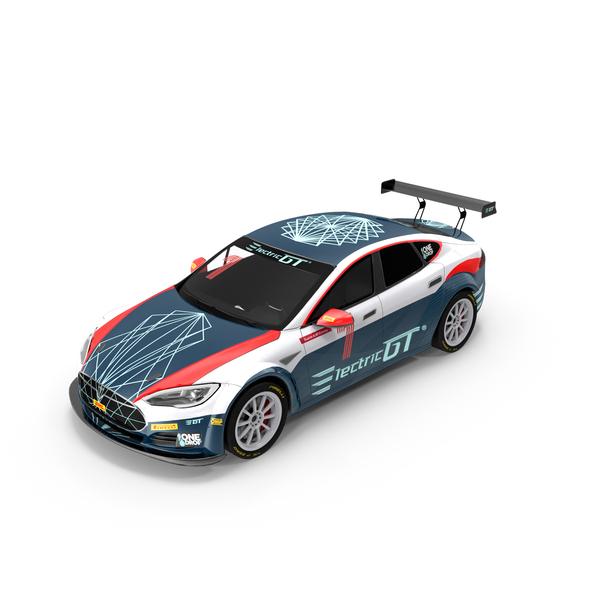 Rally Car: Tesla Model S P100D PNG & PSD Images