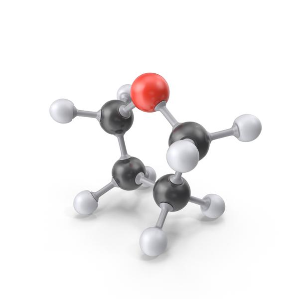 Tetrahydrofuran Molecule PNG & PSD Images
