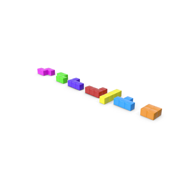 Tetris Bricks Set PNG & PSD Images