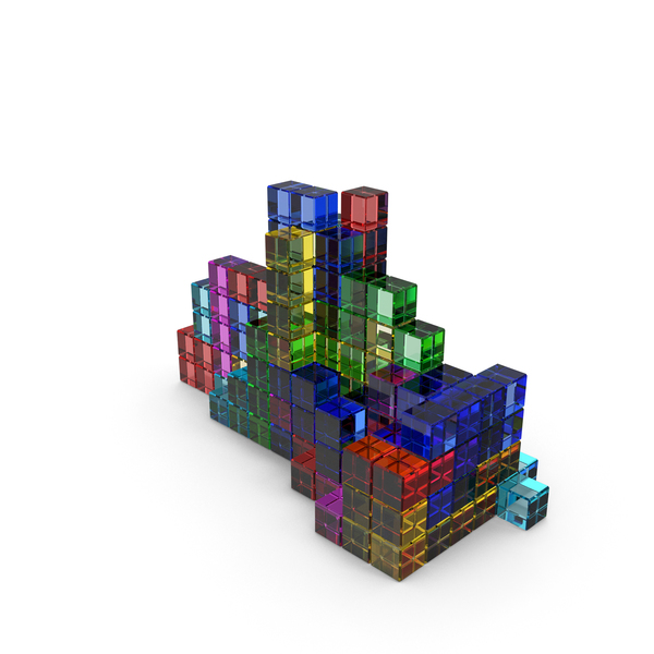 Toys: Tetris Colored Glass PNG & PSD Images