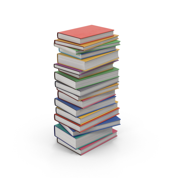 Textbook Stack PNG & PSD Images