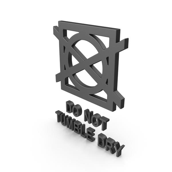 Symbols: Textile Care Symbol Do Not Tumble Dry PNG & PSD Images