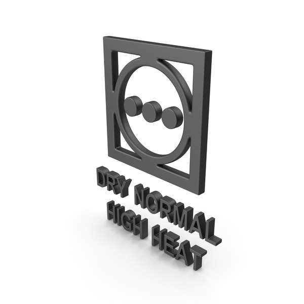 Textile Care Symbol Dry Normal High Heat PNG & PSD Images