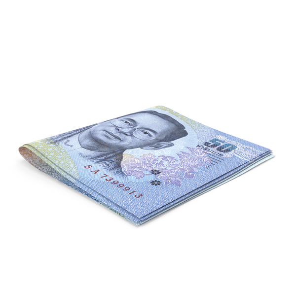 Banknote: Thai Baht Banknotes Small Folded Stack PNG & PSD Images