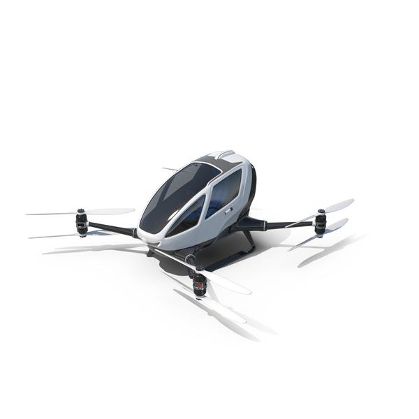 The Ehang 184 Single Passenger Drone PNG & PSD Images