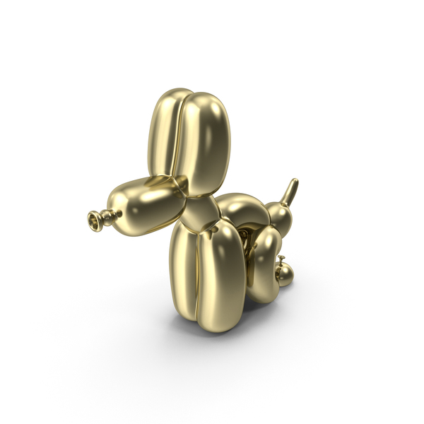 The Gold Pooping Balloon Dog PNG & PSD Images