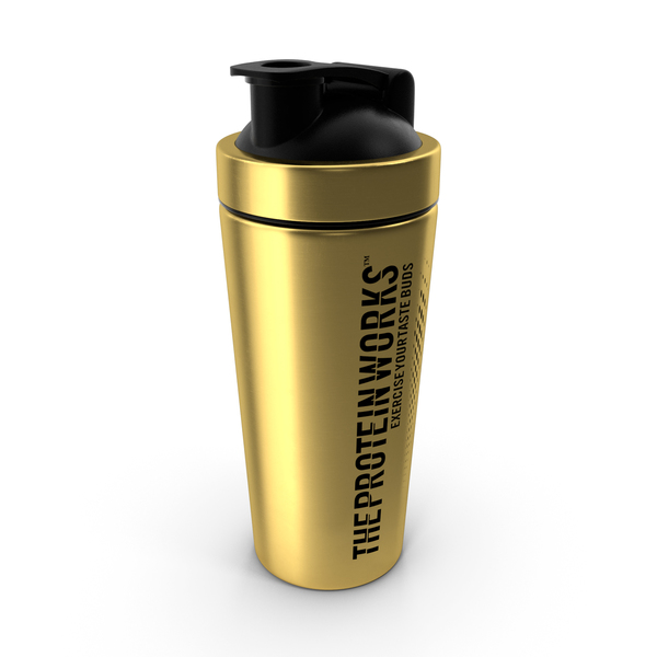 Cocktail: The Protein Works Black n Gold Protein Shaker PNG & PSD Images