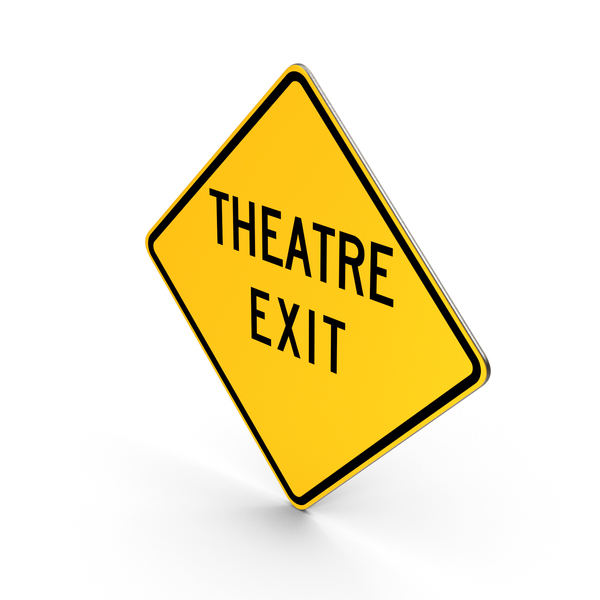 Traffic Signs: Theatre Exit Road Sign PNG & PSD Images