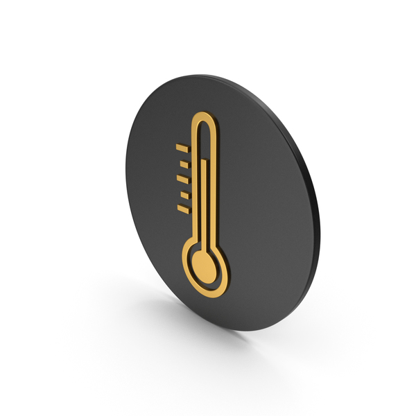 Infinity: Thermometer Gold Icon PNG & PSD Images