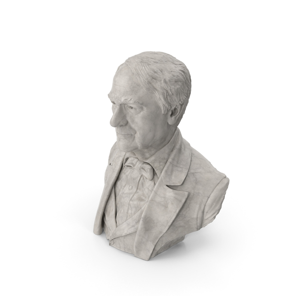 Thomas Edison Bust PNG & PSD Images