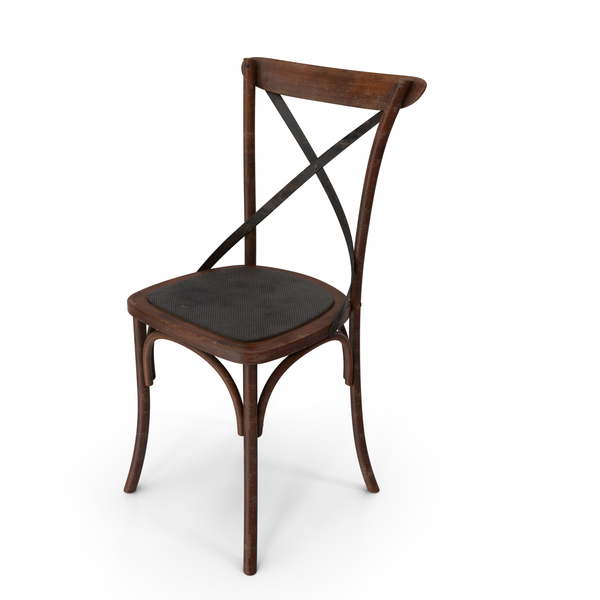 Thonet Chair Apple Black Dirty PNG & PSD Images