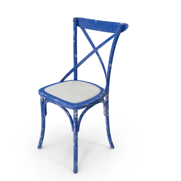 Dining: Thonet Chair White Blue PNG & PSD Images