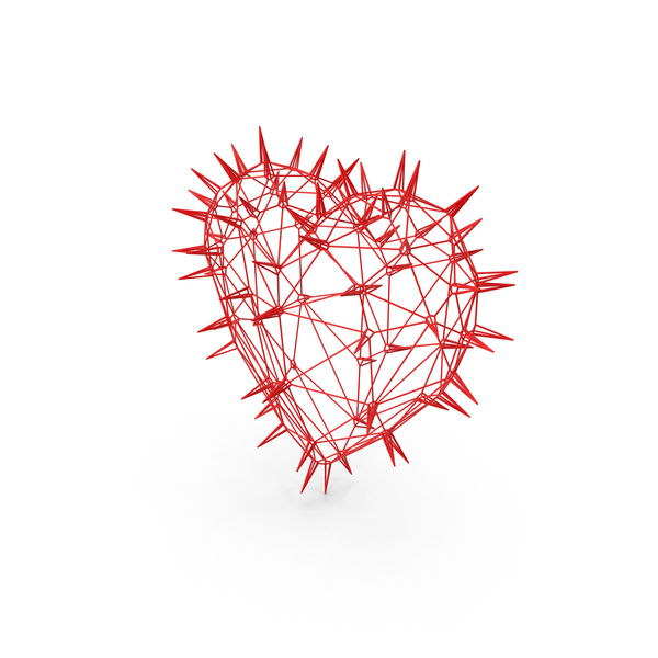 Thorny Wire Heart PNG & PSD Images