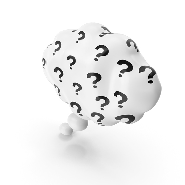 Thought Bubble with Question Mark PNG & PSD Images