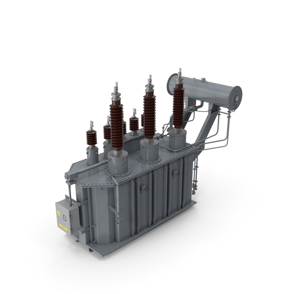 Electrical: Three Phase Transformer PNG & PSD Images