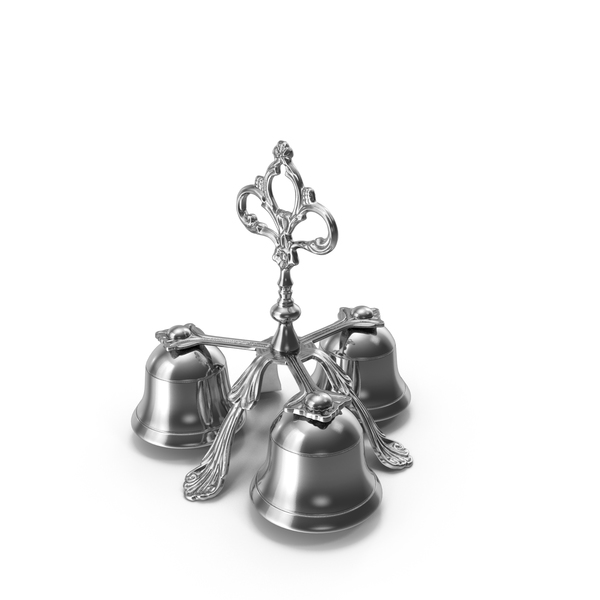 Bell: Three Sound Silver Handbell PNG & PSD Images
