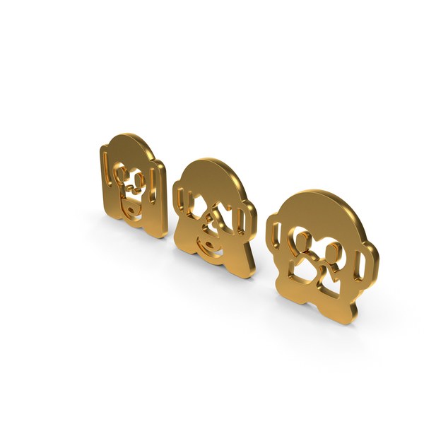 Three Wise Monkeys Icon PNG & PSD Images