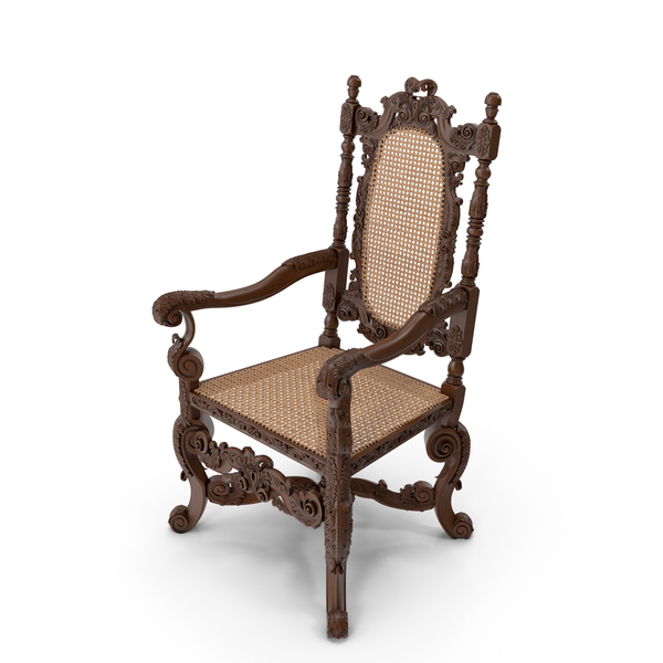 Throne Armchair English 1680 PNG & PSD Images