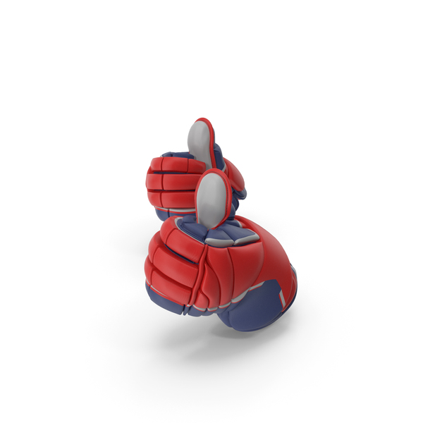 Thumbs Up Hockey Gloves PNG & PSD Images