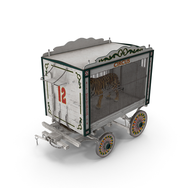 Tiger in Circus Wagon PNG & PSD Images