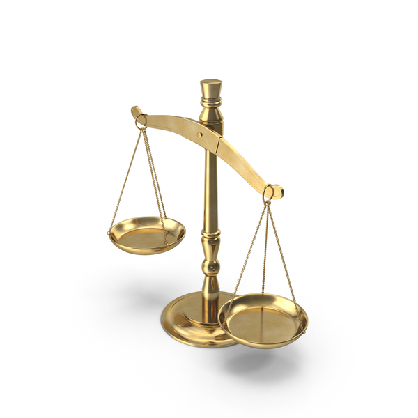Tilted Scales of Justice PNG & PSD Images