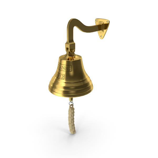 Ship: Titanic Bronze Bell PNG & PSD Images