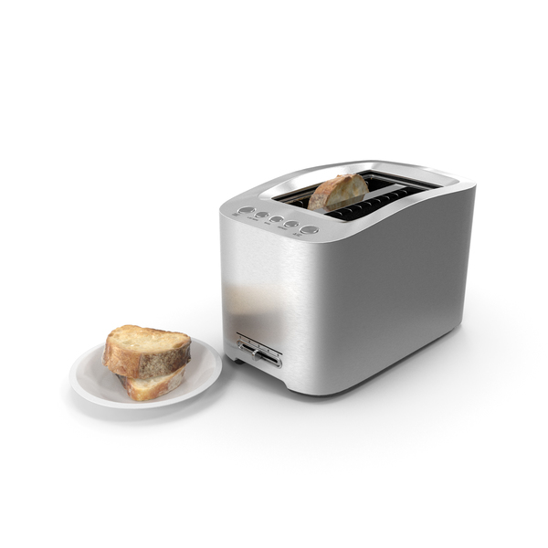 Kitchen Appliance: Toaster With Bread PNG & PSD Images