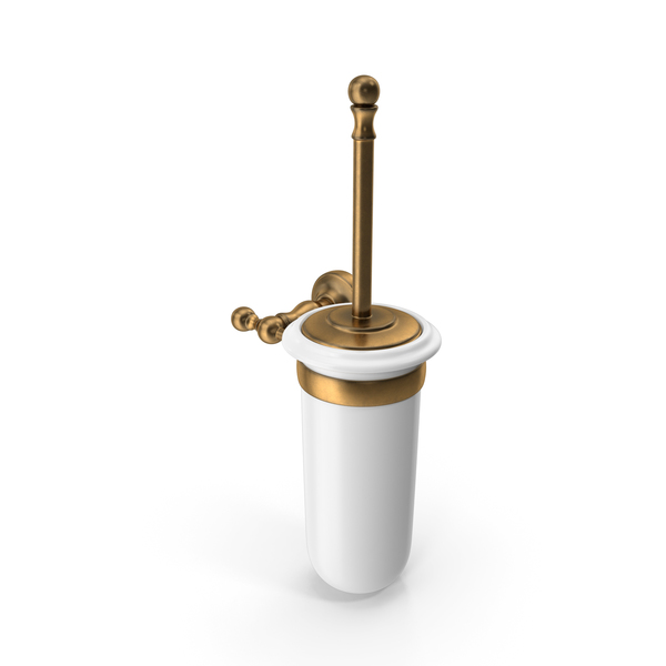 Toilet Brush Bronze Porcelain PNG & PSD Images