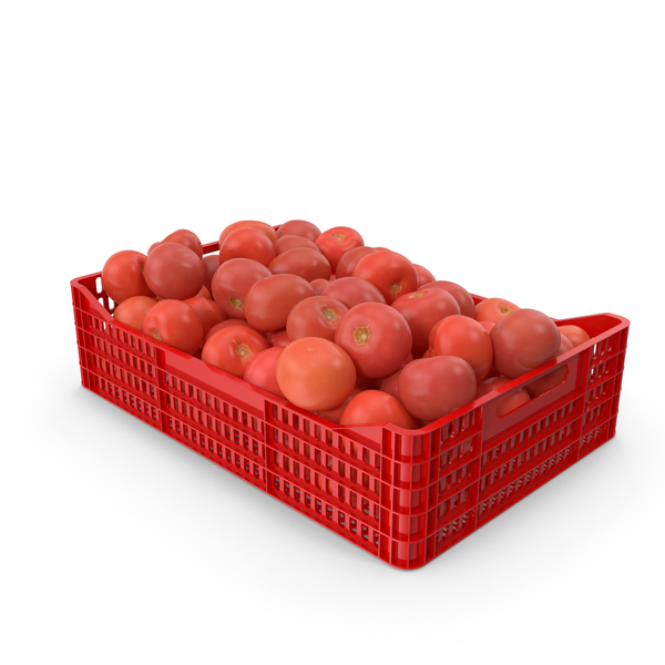 Tomatoes in Plastic Crate PNG & PSD Images