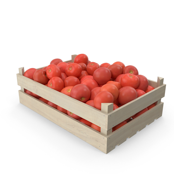 Tomatoes in Wooden Crate PNG & PSD Images