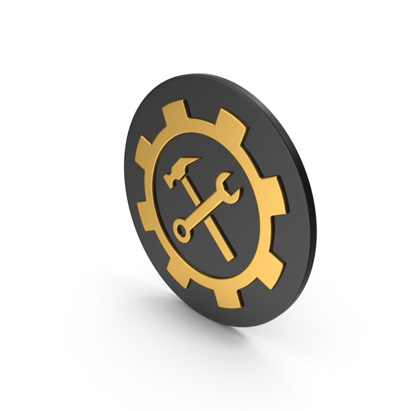 Logo: Tools Gold Icon PNG & PSD Images