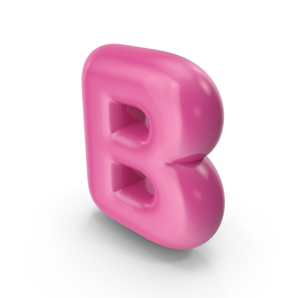Toon Balloon Letter B PNG & PSD Images