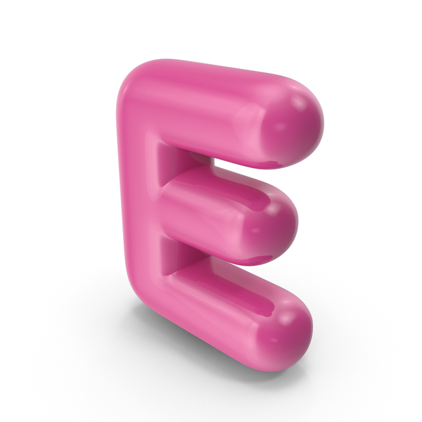 Toon Balloon Letter E PNG & PSD Images