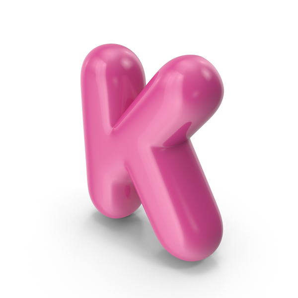Toon Balloon Letter K PNG & PSD Images