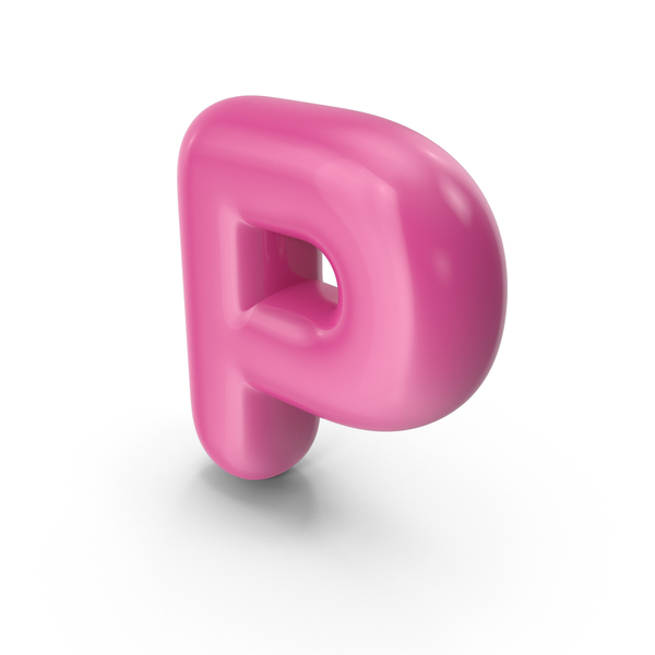 Toon Balloon Letter P PNG & PSD Images