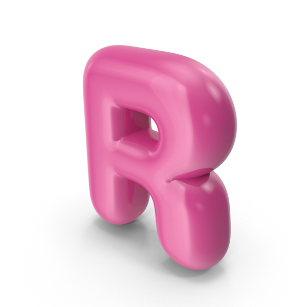 Toon Balloon Letter R PNG & PSD Images