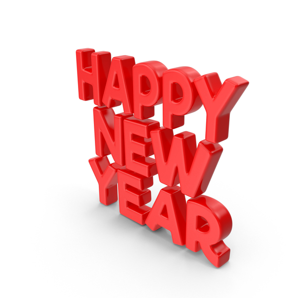Toon New Year Red PNG & PSD Images